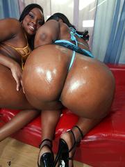 ebony Naked black big